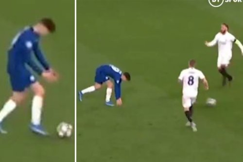 Watch Havertz troll Ramos with 'top s***housery' time-wasting in final minute