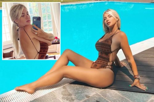 Wanda Icardi sizzles in tiny one-piece as PSG star Mauro's wife sends fans wild