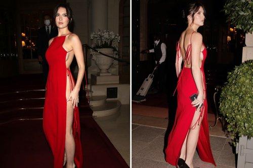 Maya Henry shows sideboob as she goes braless & knickerless in skimpy dress