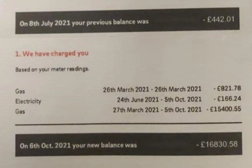 Son furious as 'Eon tries to charge parents £16,850 a year for power'