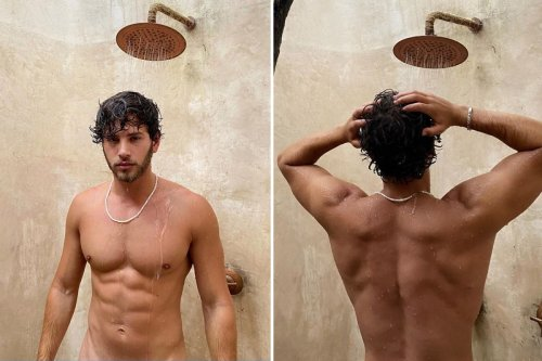 Love Island's Eyal strips naked for outdoor shower in saucy holiday snap