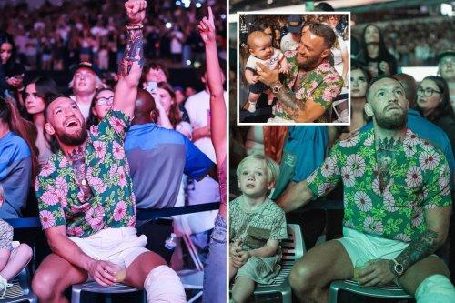 McGregor has fun at Bieber concert as UFC superstar continues surgery recovery