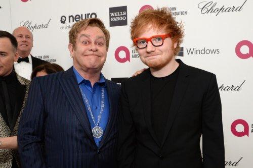 Elton John calls Ed Sheeran a 'f***ing big mouth' after leaking Xmas duet info
