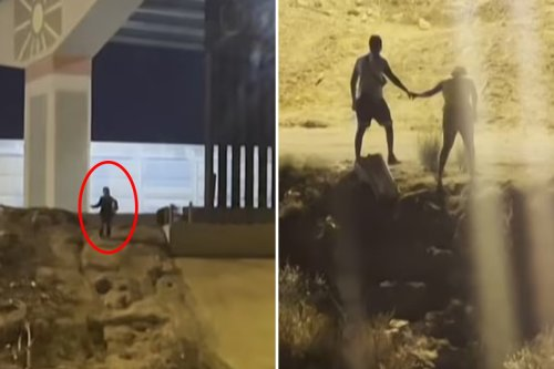 Terrified migrant boy pleads with smugglers after being dumped at border