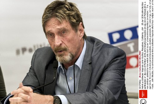 John McAfee claimed US Government were after his 'hidden cryptocurrency