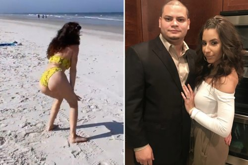 Jo Rivera's wife Vee twerks in a tiny bikini while on vacation with his mother