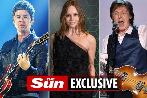 Noel Gallagher & Sir Paul McCartney duet for Stella's 50th birthday