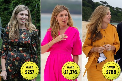 Inside bargain hunter Carrie Johnson's showstopping £3,755 designer wardrobe for the G7 summit that she HIRED for just £217