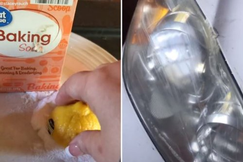 Driver shares 10-second hack which clears foggy headlights
