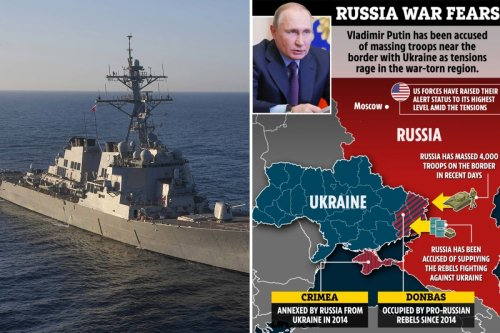 US could send WARSHIPS to Black Sea to front-up to Russian threat near Ukraine