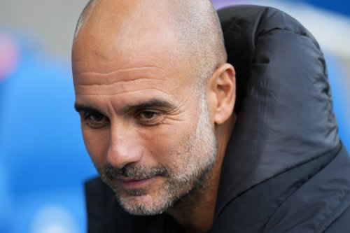 Man City boss Pep Guardiola makes bet with Sky reporter after striker question