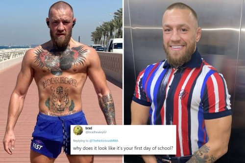 Conor McGregor ribbed by UFC fans who think looks like he's off to school