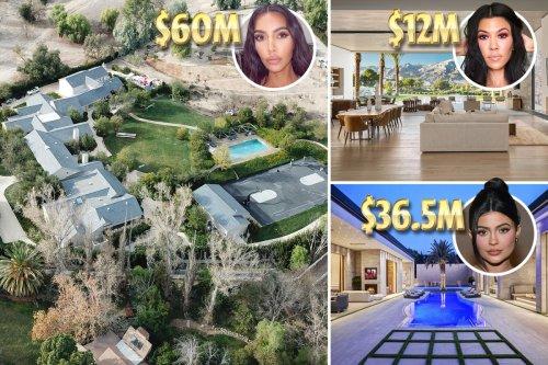 Inside the Kardashians' sprawling property empire including Kim's $60M mansion