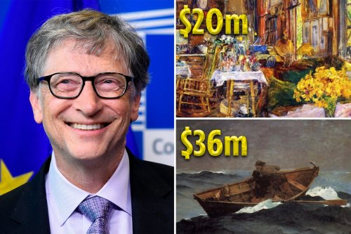 Inside Bill Gates' $124M art collection including $30.8M da Vinci book