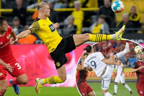 Watch Haaland channel Zlatan with karate kick goal for Dortmund v Union Berlin