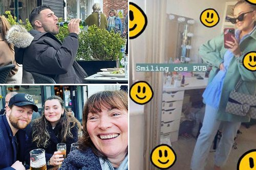 Lucy Fallon, Lorraine Kelly & Tommy Fury wrap up to down drinks as pubs reopen