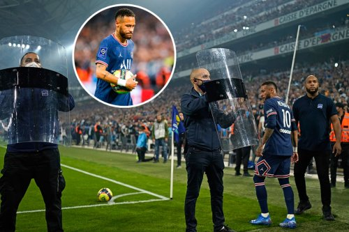 Marseille game with PSG halted as Neymar needs police protection to take corner