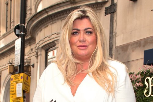 Gemma Collins snuggles up to male pal in the street after wild boozy brunch