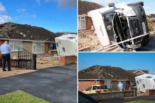 'TORNADO' hits homes & cars as thunderstorms and flash floods hammer Britain