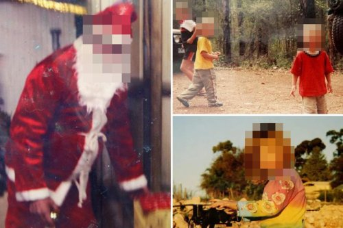 Creepy pics inside 'world's most inbred family' with dad dressed as Santa
