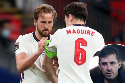 Maguire would be bigger loss to England than captain Kane, claims Gary Neville
