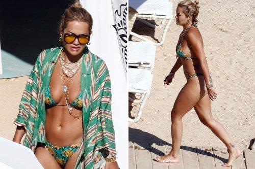 Rita Ora shows off her incredible figure in barely there bikini in Ibiza