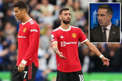 Neville slams Ronaldo & Fernandes for 'waving arms' at team-mate in furious rant