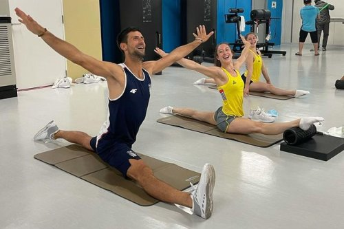 Djokovic does splits with Belgian gymnastics team as Serb star eyes tennis gold