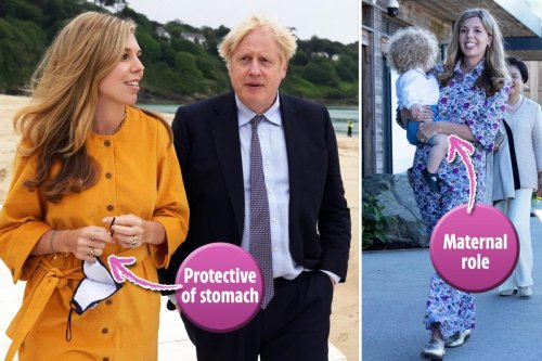 The secret signs that Carrie Symonds was expecting from body language expert
