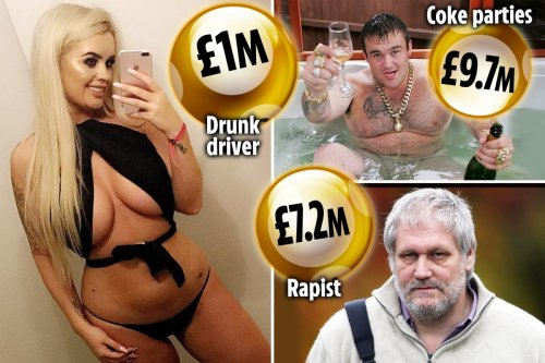 Lottery winners who were also criminals from coke abuser to orgy-mad binman