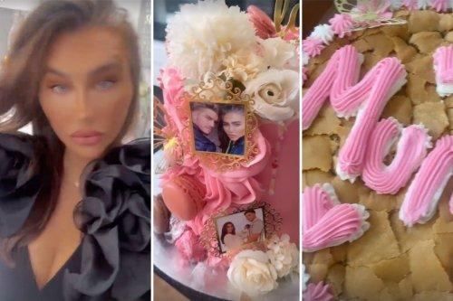Inside Lauren Goodger's 35th birthday party as she's surprised with 'Mum' cake