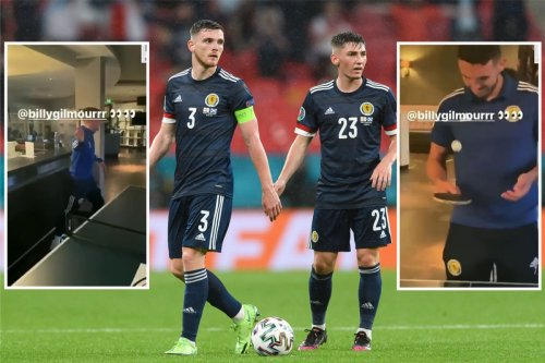 Robertson DELETES clip of him & Gilmour after Scotland ace's positive Covid test