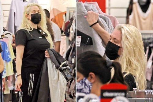 RHOBH's Erika Jayne shops for discount clothes at TJ Maxx and visits Petco