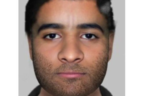 Cops release e-fit of man after he wrapped metal chain around woman's neck
