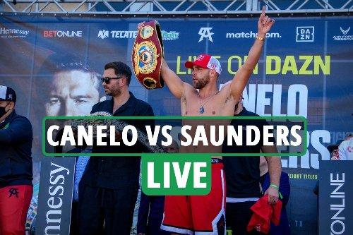 Canelo Alvarez vs Billy Joe Saunders LIVE RESULTS: Fight build-up for TONIGHT's world title showdown - latest updates