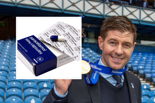 Steven Gerrard found hangover remedies in his locker ahead of Gers title party