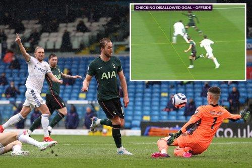 Kane goal denied by VAR as Spurs fans rage he was 'level' in Leeds clash
