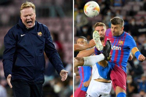 Barca fans demand Koeman is sacked after he plays Pique as STRIKER vs Granada