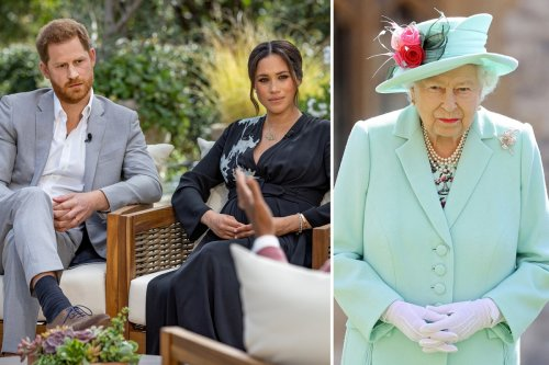 Royals watch 'with hands over eyes' when Meg & Harry speak, insider says