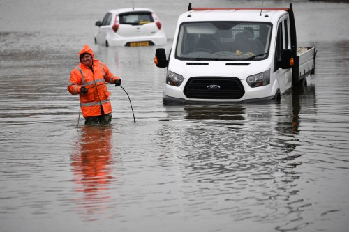 Flash floods will cover UK this weekend with storms dropping 4 inches of rain