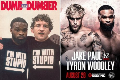 Jake Paul Brutally Trolls Tyron Woodley And Askren With Dumb And Dumber Poster Flipboard