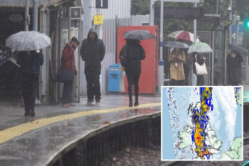 'Intense' rain & thunder to sweep Britain for a WEEK after sun bliss
