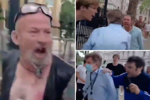 'BBC journalist' hounded by anti-lockdown mob in ugly scenes in Westminster
