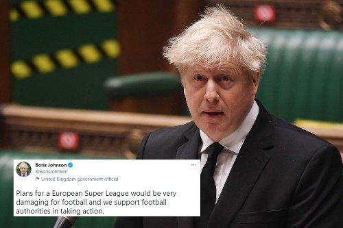 Boris Johnson says European Super League plans 'strike at the heart' of football