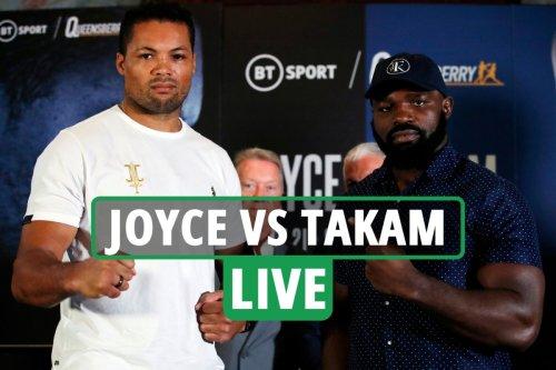 Joe Joyce vs Carlos Takam LIVE RESULTS: Follow all the latest from Wembley