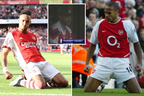 Aubameyang copies iconic Henry celebration in front of Arsenal legend vs Spurs