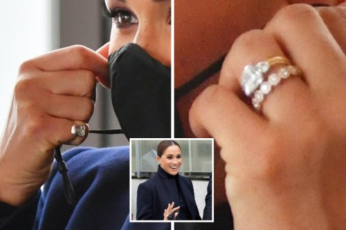 Meghan wears special £3k band & 'Middle Eastern' pinky ring in New York