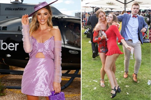 Raucous Melbourne Cup racegoers hit by clothing ban as bosses crackdown on skimpy attire