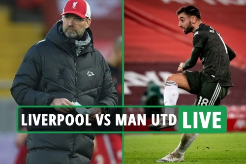 Liverpool vs Man Utd LIVE: Follow all the action from Premier League clash