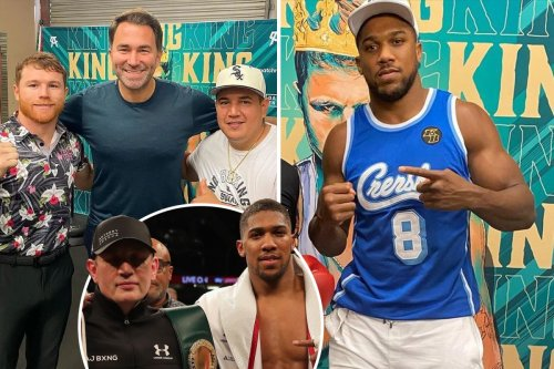 Anthony Joshua touring US gyms and links up with Canelo amid calls to sack coach